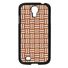 Woven1 White Marble & Rusted Metal Samsung Galaxy S4 I9500/ I9505 Case (black)
