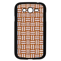 Woven1 White Marble & Rusted Metal Samsung Galaxy Grand Duos I9082 Case (black)