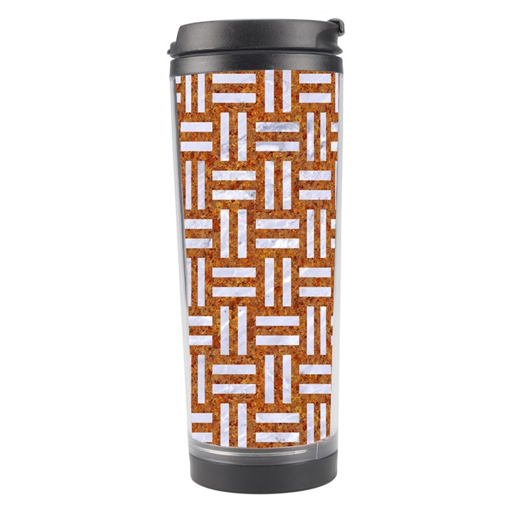 WOVEN1 WHITE MARBLE & RUSTED METAL Travel Tumbler
