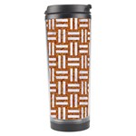 WOVEN1 WHITE MARBLE & RUSTED METAL Travel Tumbler Right