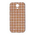 WOVEN1 WHITE MARBLE & RUSTED METAL Samsung Galaxy S4 I9500/I9505  Hardshell Back Case Front