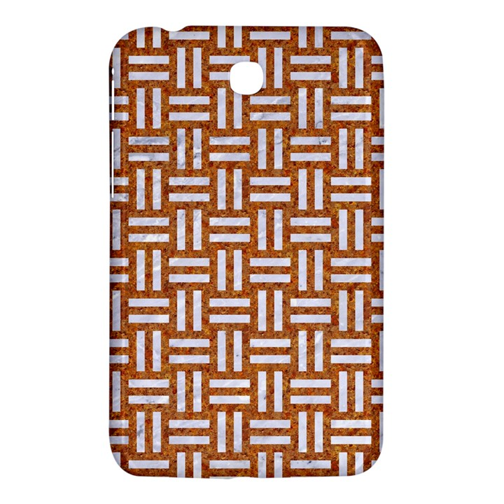 WOVEN1 WHITE MARBLE & RUSTED METAL Samsung Galaxy Tab 3 (7 ) P3200 Hardshell Case