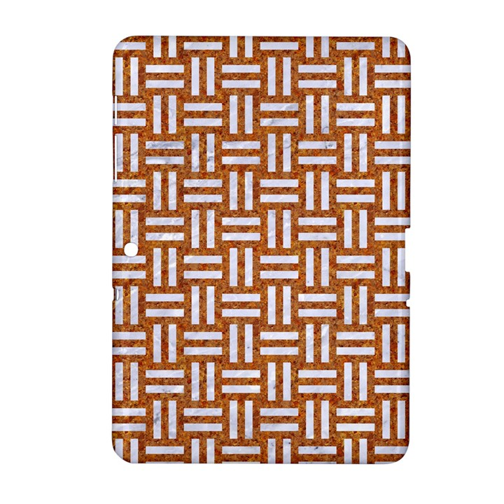 WOVEN1 WHITE MARBLE & RUSTED METAL Samsung Galaxy Tab 2 (10.1 ) P5100 Hardshell Case