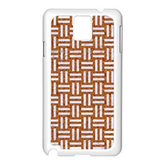 Woven1 White Marble & Rusted Metal Samsung Galaxy Note 3 N9005 Case (white)