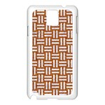WOVEN1 WHITE MARBLE & RUSTED METAL Samsung Galaxy Note 3 N9005 Case (White) Front