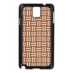 WOVEN1 WHITE MARBLE & RUSTED METAL Samsung Galaxy Note 3 N9005 Case (Black) Front