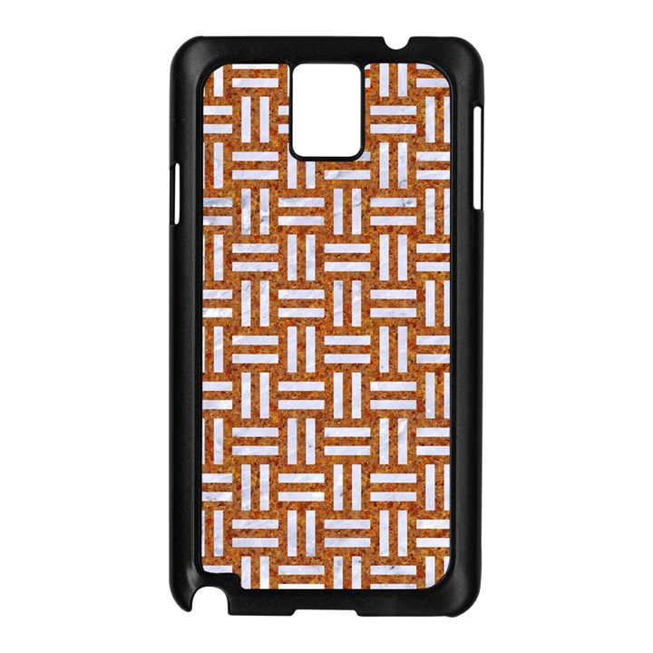 WOVEN1 WHITE MARBLE & RUSTED METAL Samsung Galaxy Note 3 N9005 Case (Black)