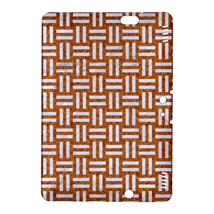 WOVEN1 WHITE MARBLE & RUSTED METAL Kindle Fire HDX 8.9  Hardshell Case