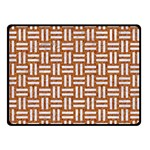 WOVEN1 WHITE MARBLE & RUSTED METAL Double Sided Fleece Blanket (Small)  45 x34 Blanket Back