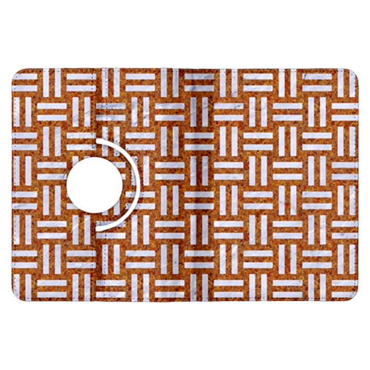 WOVEN1 WHITE MARBLE & RUSTED METAL Kindle Fire HDX Flip 360 Case