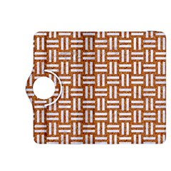 Woven1 White Marble & Rusted Metal Kindle Fire Hdx 8 9  Flip 360 Case