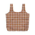 WOVEN1 WHITE MARBLE & RUSTED METAL Full Print Recycle Bags (M)  Front