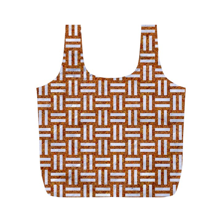 WOVEN1 WHITE MARBLE & RUSTED METAL Full Print Recycle Bags (M)