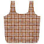 WOVEN1 WHITE MARBLE & RUSTED METAL Full Print Recycle Bags (L)  Front