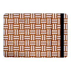 Woven1 White Marble & Rusted Metal Samsung Galaxy Tab Pro 10 1  Flip Case