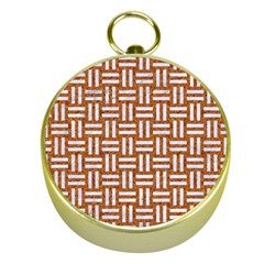 Woven1 White Marble & Rusted Metal Gold Compasses