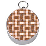 WOVEN1 WHITE MARBLE & RUSTED METAL Silver Compasses Front