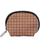 WOVEN1 WHITE MARBLE & RUSTED METAL Accessory Pouches (Small)  Front