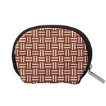 WOVEN1 WHITE MARBLE & RUSTED METAL Accessory Pouches (Small)  Back
