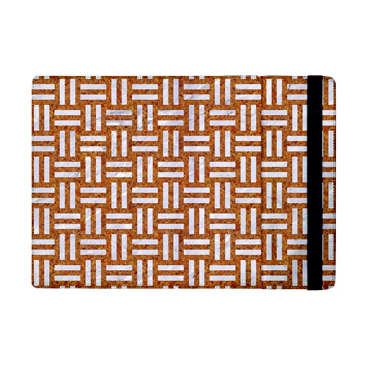 WOVEN1 WHITE MARBLE & RUSTED METAL iPad Mini 2 Flip Cases