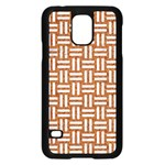 WOVEN1 WHITE MARBLE & RUSTED METAL Samsung Galaxy S5 Case (Black) Front