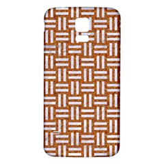 Woven1 White Marble & Rusted Metal Samsung Galaxy S5 Back Case (white)