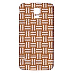 WOVEN1 WHITE MARBLE & RUSTED METAL Samsung Galaxy S5 Back Case (White) Front