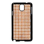 WOVEN1 WHITE MARBLE & RUSTED METAL Samsung Galaxy Note 3 Neo Hardshell Case (Black) Front