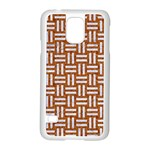 WOVEN1 WHITE MARBLE & RUSTED METAL Samsung Galaxy S5 Case (White) Front