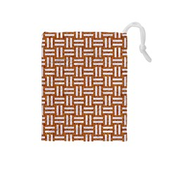 Woven1 White Marble & Rusted Metal Drawstring Pouches (medium)