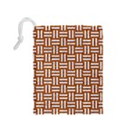 WOVEN1 WHITE MARBLE & RUSTED METAL Drawstring Pouches (Medium)  Back