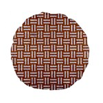 WOVEN1 WHITE MARBLE & RUSTED METAL Standard 15  Premium Flano Round Cushions Front