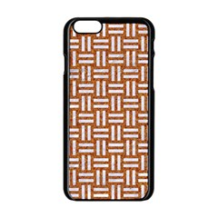 Woven1 White Marble & Rusted Metal Apple Iphone 6/6s Black Enamel Case