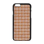 WOVEN1 WHITE MARBLE & RUSTED METAL Apple iPhone 6/6S Black Enamel Case Front