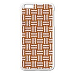 WOVEN1 WHITE MARBLE & RUSTED METAL Apple iPhone 6 Plus/6S Plus Enamel White Case Front