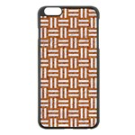WOVEN1 WHITE MARBLE & RUSTED METAL Apple iPhone 6 Plus/6S Plus Black Enamel Case Front