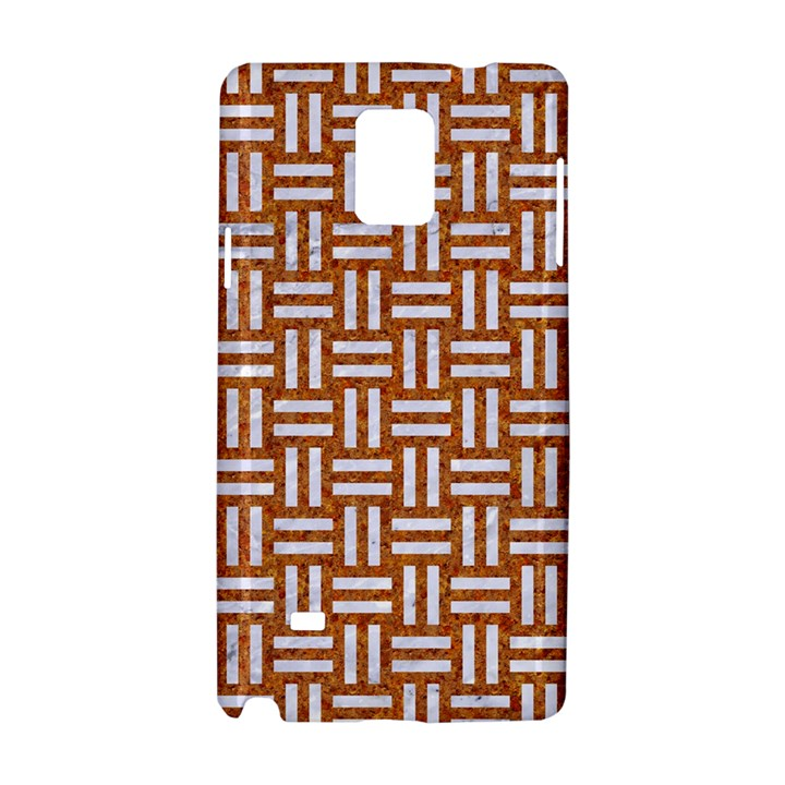 WOVEN1 WHITE MARBLE & RUSTED METAL Samsung Galaxy Note 4 Hardshell Case