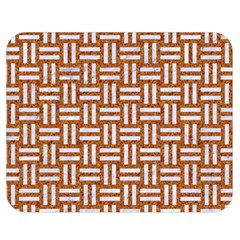 Woven1 White Marble & Rusted Metal Double Sided Flano Blanket (medium)