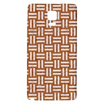 WOVEN1 WHITE MARBLE & RUSTED METAL Galaxy Note 4 Back Case Front