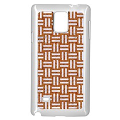 Woven1 White Marble & Rusted Metal Samsung Galaxy Note 4 Case (white)