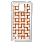 WOVEN1 WHITE MARBLE & RUSTED METAL Samsung Galaxy Note 4 Case (White) Front