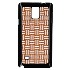 Woven1 White Marble & Rusted Metal Samsung Galaxy Note 4 Case (black)