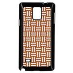 WOVEN1 WHITE MARBLE & RUSTED METAL Samsung Galaxy Note 4 Case (Black) Front