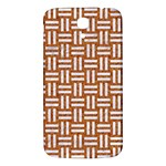 WOVEN1 WHITE MARBLE & RUSTED METAL Samsung Galaxy Mega I9200 Hardshell Back Case Front