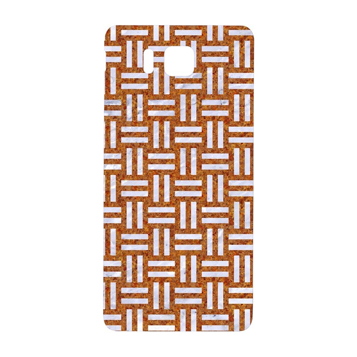 WOVEN1 WHITE MARBLE & RUSTED METAL Samsung Galaxy Alpha Hardshell Back Case