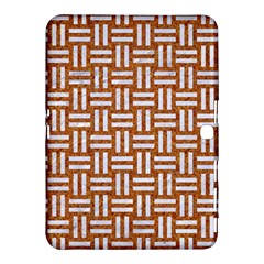 Woven1 White Marble & Rusted Metal Samsung Galaxy Tab 4 (10 1 ) Hardshell Case