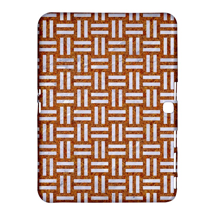 WOVEN1 WHITE MARBLE & RUSTED METAL Samsung Galaxy Tab 4 (10.1 ) Hardshell Case