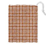 WOVEN1 WHITE MARBLE & RUSTED METAL Drawstring Pouches (XXL) Front