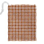WOVEN1 WHITE MARBLE & RUSTED METAL Drawstring Pouches (XXL) Back