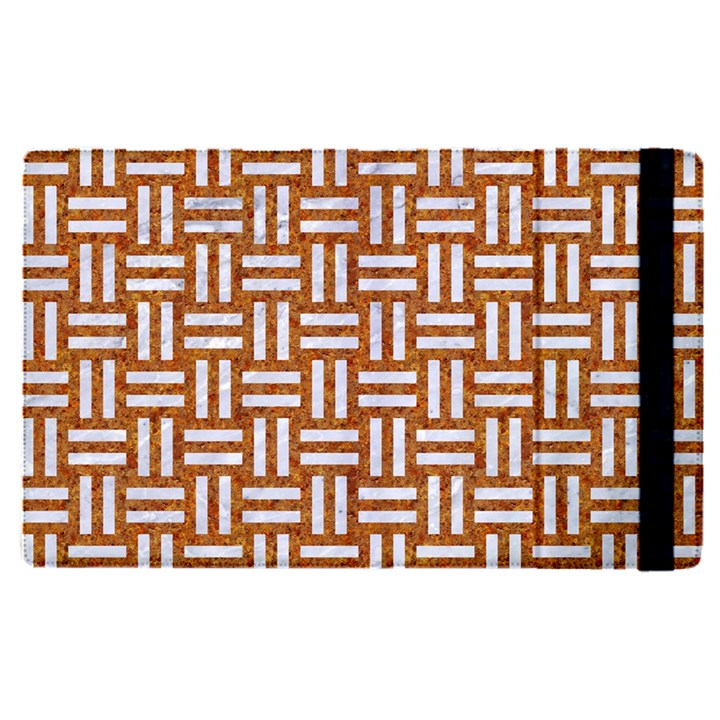 WOVEN1 WHITE MARBLE & RUSTED METAL Apple iPad Pro 9.7   Flip Case